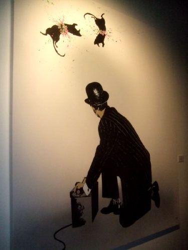 Banksy rat painting for Banksy rat mural
