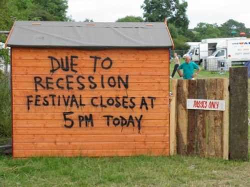 glasto recession photo