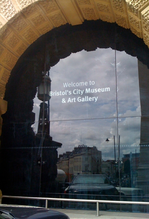 museum windows blacked out