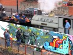 Boswell painting trackside