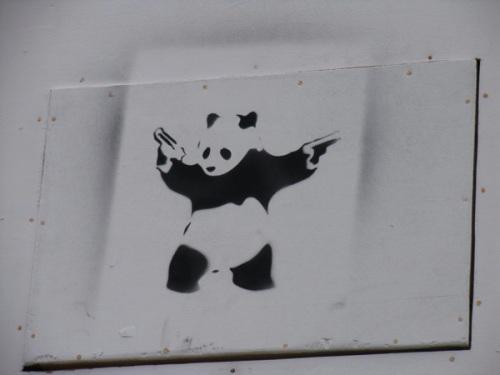 panda with guns glastonbury 2009