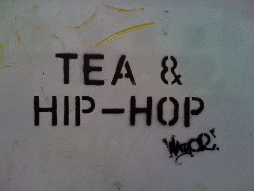 tea and hip hop close up