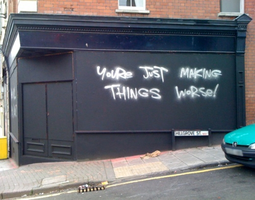 you're just making things worse stokes croft