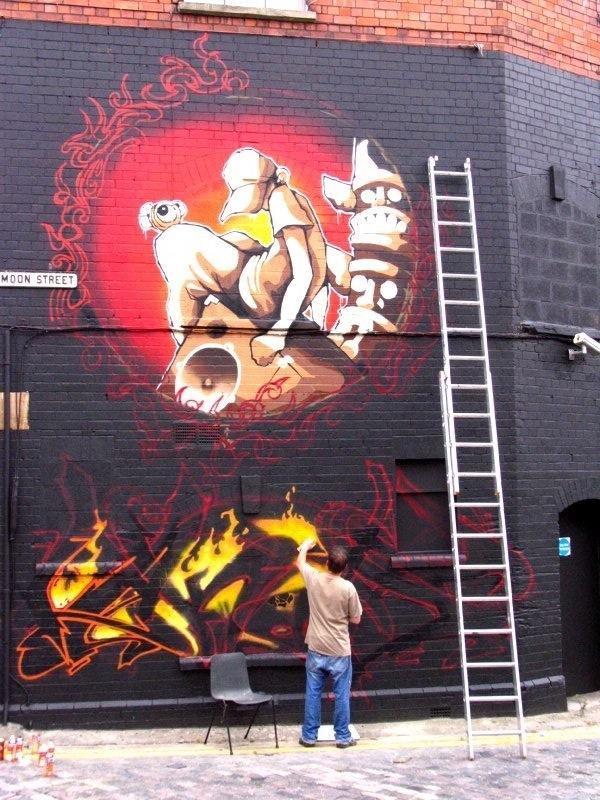 Soker painting wildstyle on Saturday