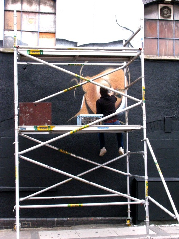 Jody at paint on Saturday