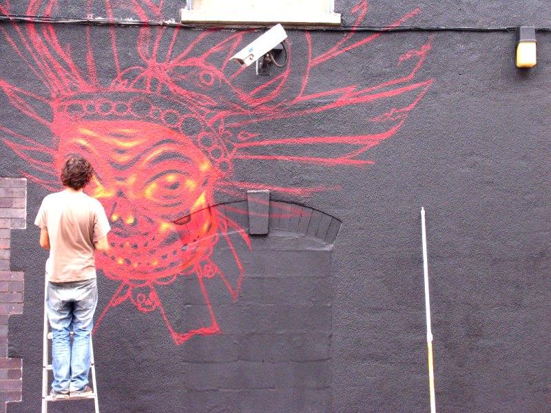 Sepr painting the burning Lakota face