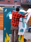 Eelus removing another layer of stencil