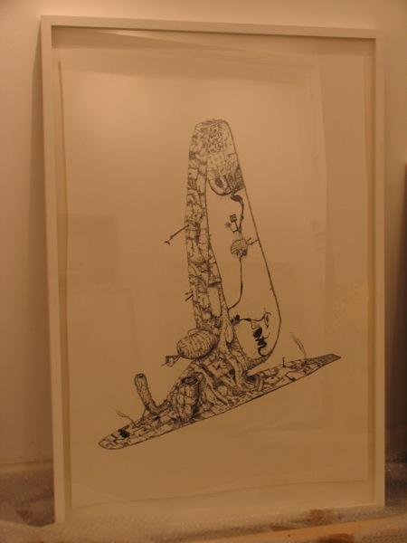 Hand drawn framed Mudwig