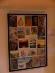 With some of the postcards all framed up